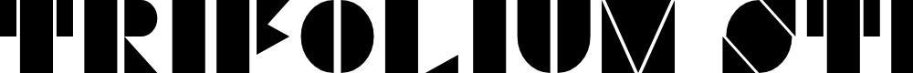 Preview image for Trifolium Stencil Regular Font