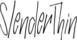Preview image for SlenderThin Font