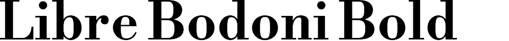 Preview image for Libre Bodoni Bold