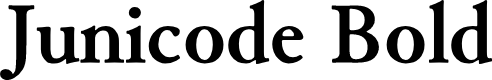 Preview image for Junicode Bold Font