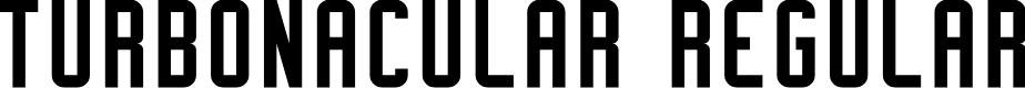 Preview image for Turbonacular Regular Demo Font
