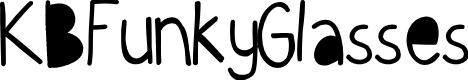 Preview image for KBFunkyGlasses Font
