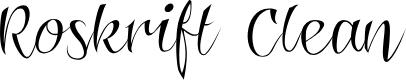 Preview image for Roskrift Clean Font