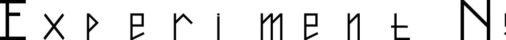 Preview image for Experiment Ngesti Regular Font