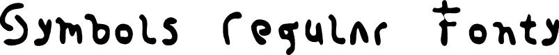 Preview image for Symbols Regular Fonty