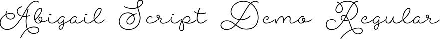 Preview image for Abigail Script Demo Regular Font