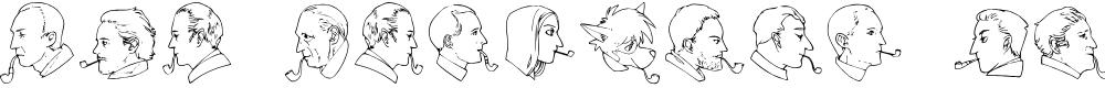 Preview image for JMH Sherlock Dingbats Regular Font