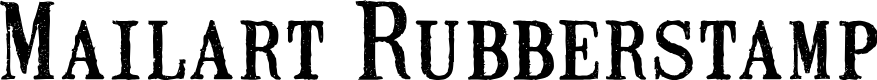 Preview image for Mailart Rubberstamp Font