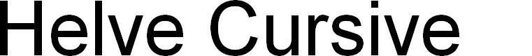 Preview image for Helve Cursive Font