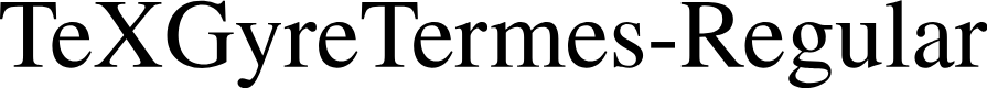 Preview image for TeXGyreTermes-Regular Font