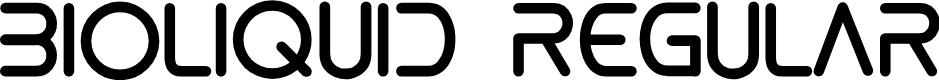 Preview image for bioliquid Regular Font
