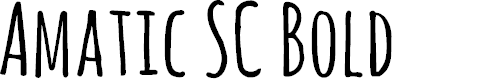 Preview image for Amatic SC Bold Font