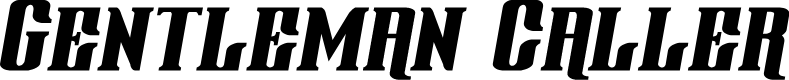 Preview image for Gentleman Caller Italic Font