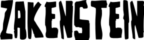 Preview image for Zakenstein Regular Font