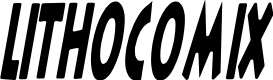 Preview image for LithoComix Italic Font