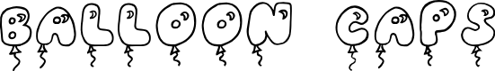 Preview image for JI Balloon Caps Font