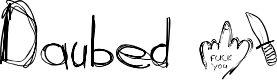 Preview image for Daubed Font