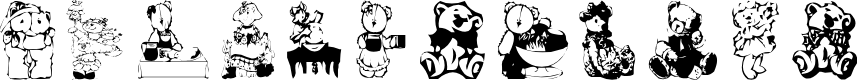Preview image for AEZbears Font