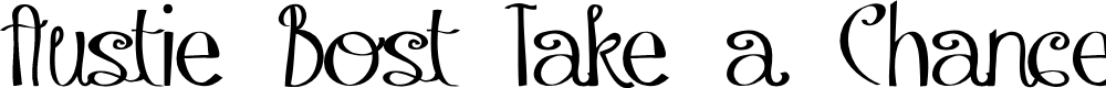 Preview image for Austie Bost Take a Chance Font