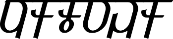 Preview image for Qijomi Font