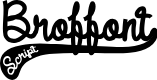 Preview image for DHF Broffont Script Demo Font