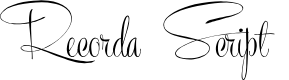 Preview image for Recorda Script Personal Use Only Font
