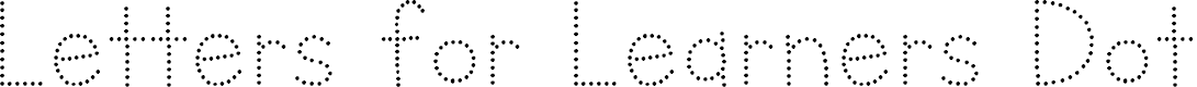 Preview image for Letters for Learners Dots