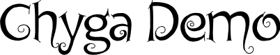 Preview image for Chyga Demo Font