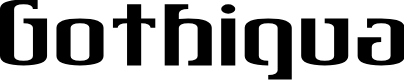 Preview image for Gothiqua Font