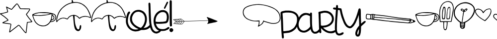 Preview image for Cheesy Enchilada Doodles Regular Font