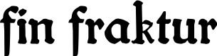 Preview image for fin fraktur Font