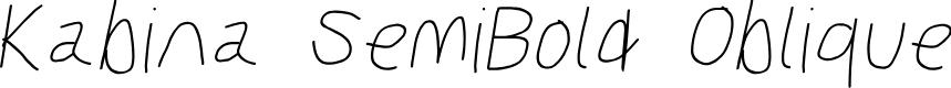 Preview image for Kabina SemiBold Oblique