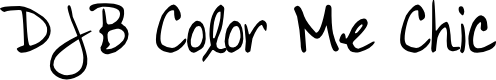 Preview image for DJB Color Me Chic Font