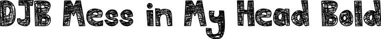 Preview image for DJB Mess in My Head Bold Font