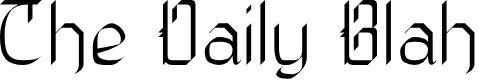 Preview image for The Daily Blah Font