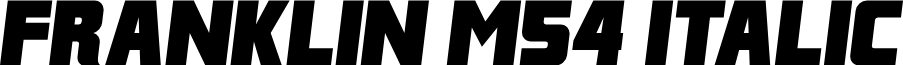 Franklin M54 Italic