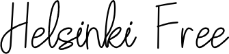 Preview image for Helsinki Free Font