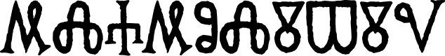 Preview image for Glagolitic AOE Font