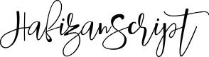 Preview image for HafizanScript Font