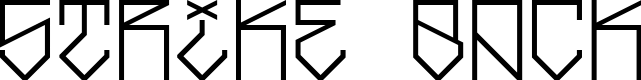 Preview image for Strike Back Font
