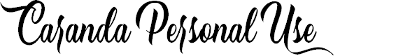 Preview image for Caranda Personal Use  Font