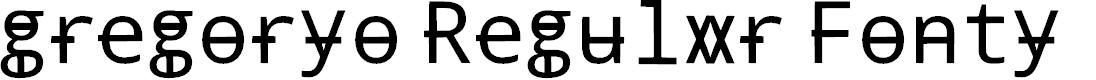 Preview image for gregoryo Regular Fonty Font
