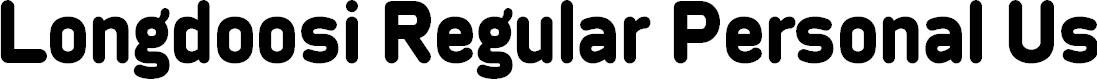Preview image for Longdoosi Regular Personal Use Font