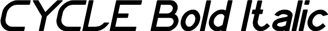 CYCLE Bold Italic