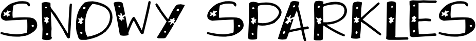 Preview image for Snowy Sparkles Font
