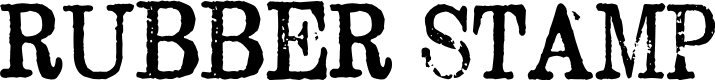 Preview image for Rubber Stamp Font