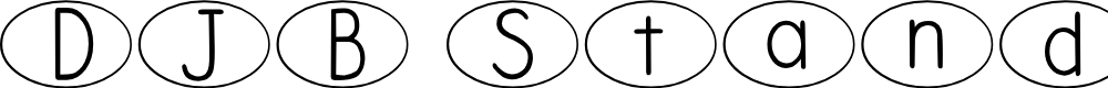 Preview image for DJB Standardized Test Oval Font