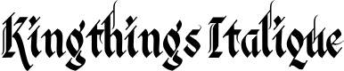 Preview image for Kingthings Italique Font