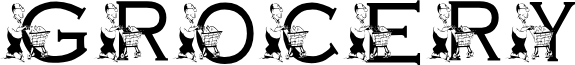 KG GROCERY font