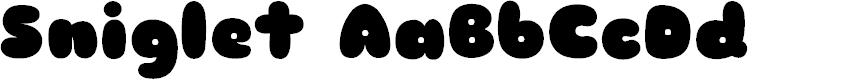 Preview image for Sniglet Font